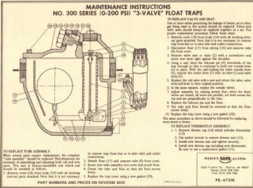 350-AC Float Drain Trap Maintenance Manual