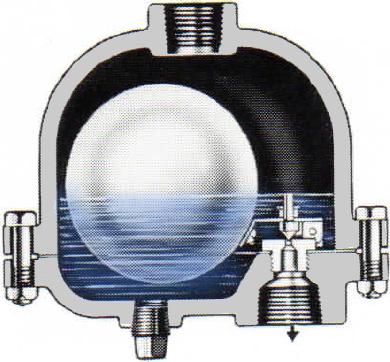 90-AC Float Drain Trap Cutaway