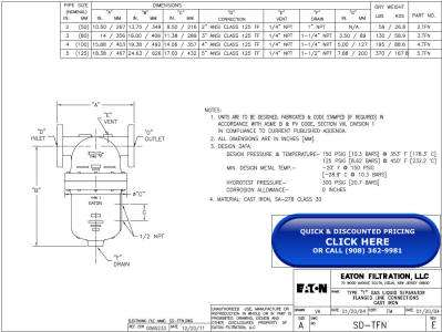 Wright-Austin Flanged Cast Iron Type T Separator