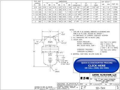Wright-Austin Threaded Cast Iron Type T Separator