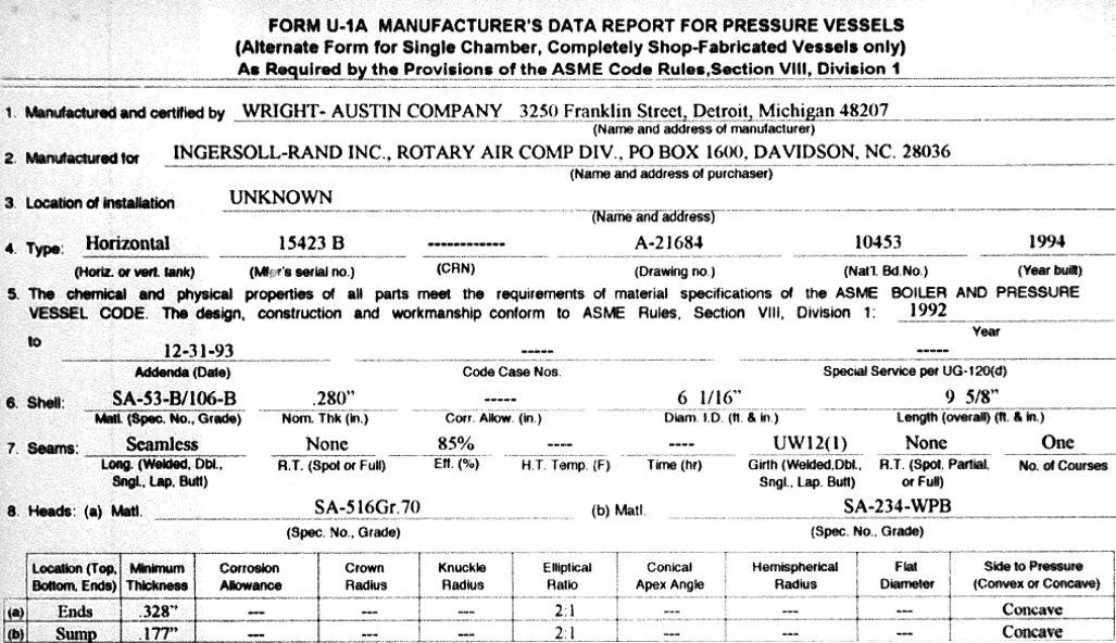 Sample U1A form