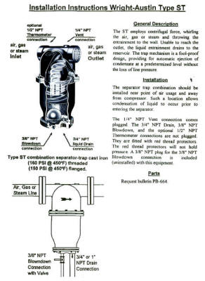 Wright-Austin ST Separator Installation Instructions